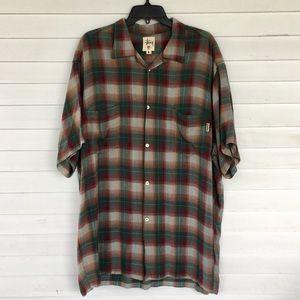 Stussy men's plaid short sleeve shirt